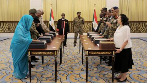 Civilian-majority ruling council sworn in — Sudan unrest