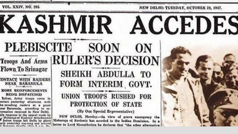 The BJP has marched into a legal bind over Kashmir's accession to India