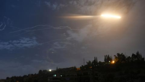Israel targets Iranian forces near Syria's Damascus