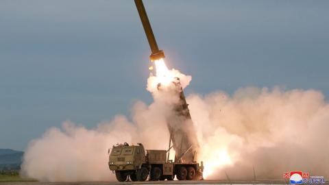 North Korea's Kim oversaw test of 'multiple rocket launcher' - KCNA