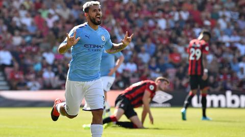Football: Aguero strikes again as City win at Cherries