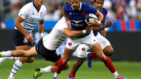 Seven-try France crush Italy in final World Cup warm-up