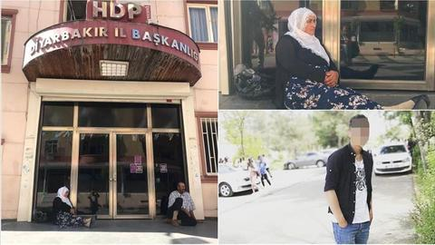 Families stage sit-in outside HDP party office in SE Turkey