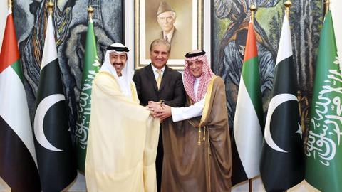 Top Saudi, UAE diplomats arrive in Pakistan to discuss Kashmir