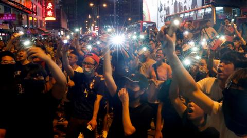 Hong Kong thwarts airport protest, but battles continue