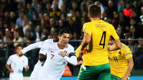 England, France hammer minnows, Ronaldo shines for Portugal