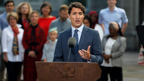 Canada's Trudeau kicks off tough re-election campaign