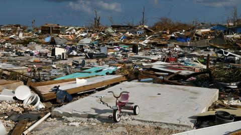 Still reeling from Hurricane Dorian, Bahamas faces Tropical Storm Humberto