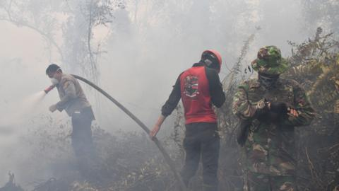 Indonesia struggles to douse underground fires