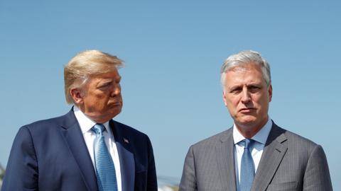 Trump denounces 'partisan' whistleblower as scandal swirls