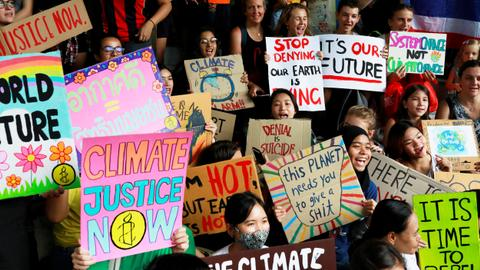 Global protests raise alarm over climate crisis before UN summit