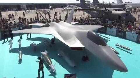 Turkey's latest TF-X fighter jet on display at Teknofest
