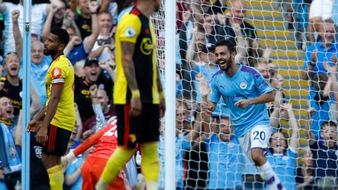 Manchester City crush Watford 8-0 in Premier League