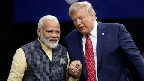 Trump visits two key states with leaders of India, Australia