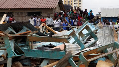 At least seven children killed in Nairobi school collapse