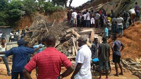 Dozens trapped as building collapses in Sierra Leone – police
