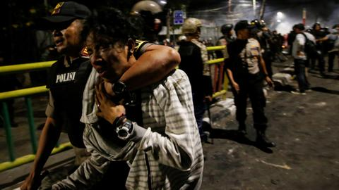 Indonesian student dies in law-change protests