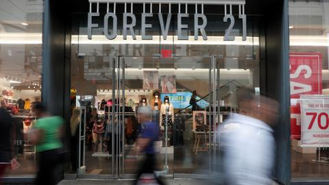 Forever 21 fashion chain files for bankruptcy