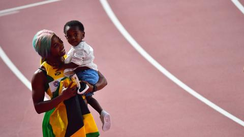 Mother athletes Fraser-Pryce and Felix seal record golds