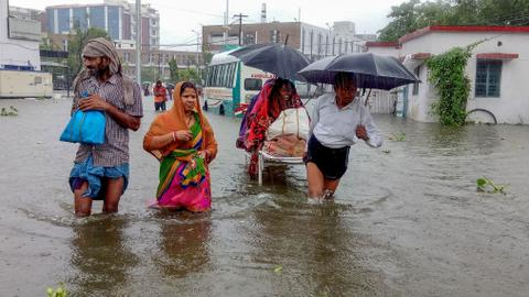 At least 100 die in India monsoon rains