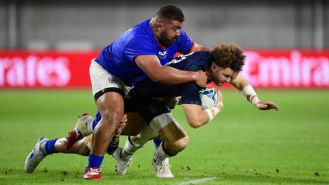Rugby World Cup: Scotland keep hopes alive with bonus-point Samoa win