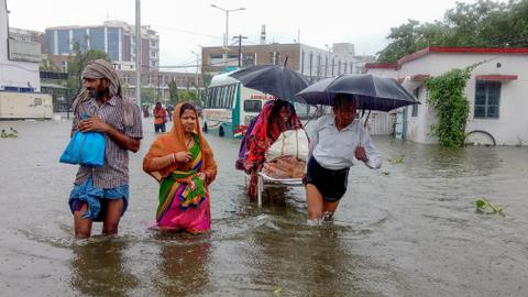 Deaths from heavy monsoon rise to nearly 140 in eastern India