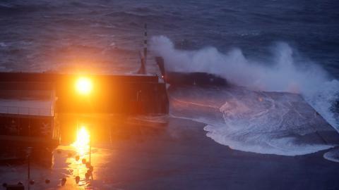 Hurricane Lorenzo batters mid-Atlantic Azores Islands