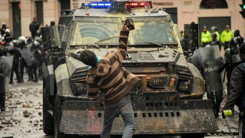 Clashes as Ecuador declares 'state of emergency'