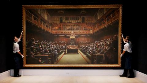 Banksy's 'Devolved Parliament' sells for over $12 million