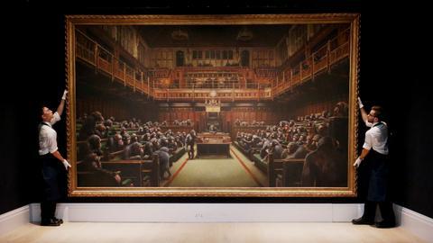 Banksy's 'Devolved Parliament' sells for over $12 million