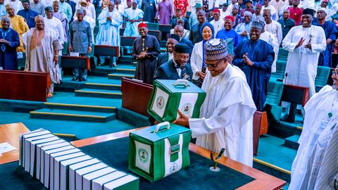 Nigerian president offers record $34B budget for 2020
