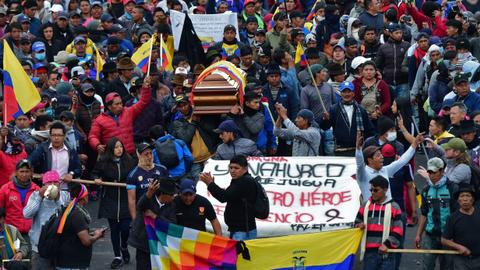 Ecuador indigenous group rejects talks, seeks to 'radicalise' protests
