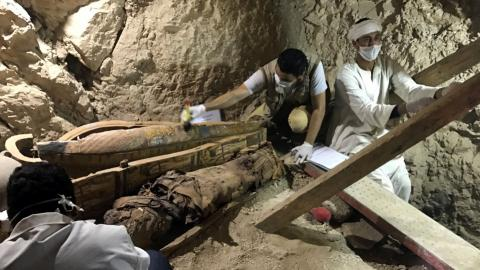 Mummies unearthed from 3,500-year-old tomb in Egypt