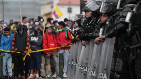Ecuador's president, protest leaders in talks to end deadly violence