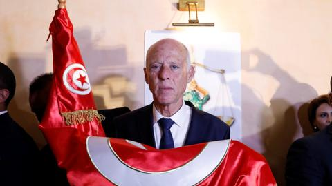 Hailing 'new revolution,' outsider Saied is elected Tunisia's president
