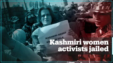 Kashmiri women activists arrested for protesting against lockdown