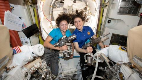 World's first female spacewalking team makes history