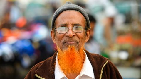 Is orange is the new grey for Bangladesh beards?
