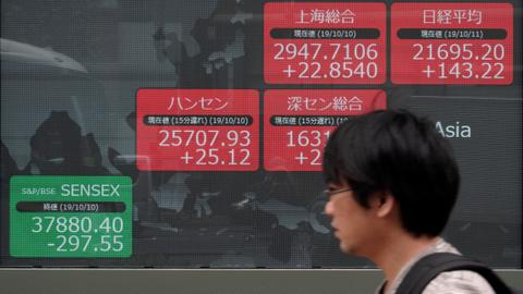 Asian shares tick up, European stocks diverge at open