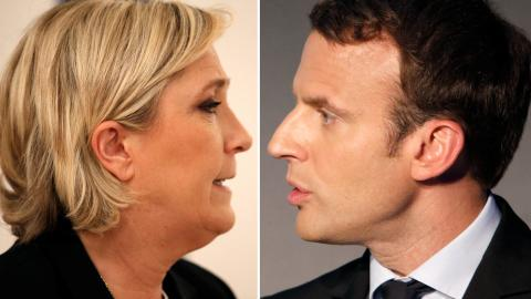 Le Pen and Macron through to French presidential run-off
