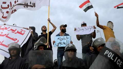 Death toll climbs to 42 in Iraq protests - watchdog, security sources