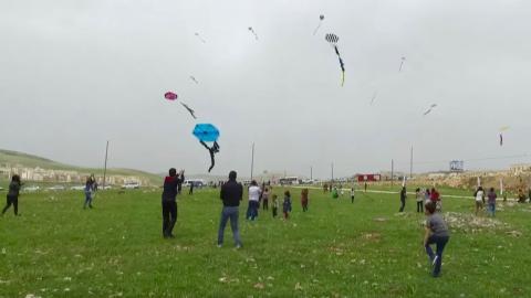 Turkey's Mardin celebrates Children's Day with kite-flying