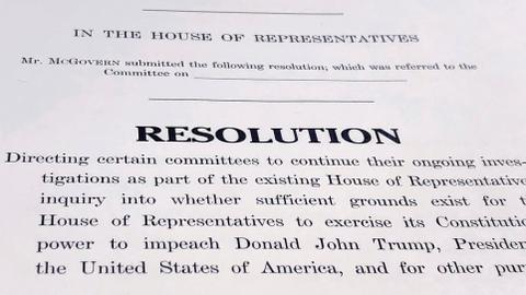 US Democrats set stage for approval of impeachment ground rules