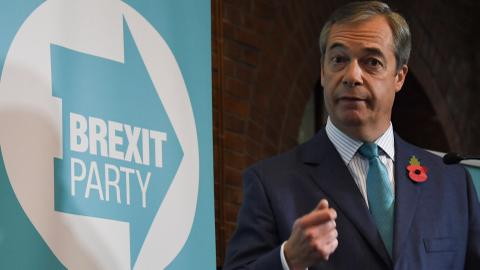 Farage's Brexit party to fight every seat in battle against UK's Johnson