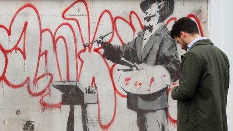 Hidden Banksy mural uncovered in heart of London's Notting Hill