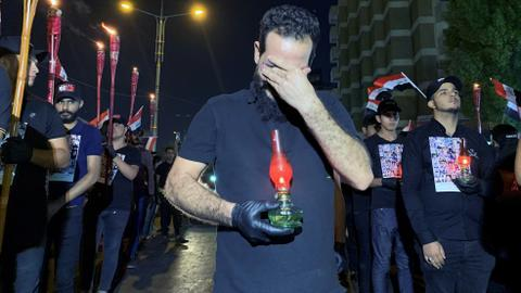Iraqi protesters blood spilled in Karbala for the sake of Iran