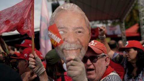 Former Brazilian president Lula leaves prison