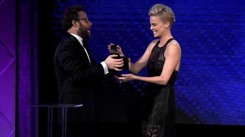 Hollywood honours 'fearless actor' Theron