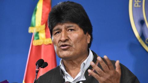 Bolivia President Morales announces resignation