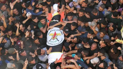 Who was the Islamic Jihad leader killed by an Israeli strike?